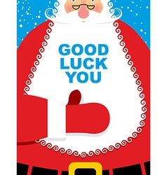 Santa Claus good luck Bearded Christmas character vector image