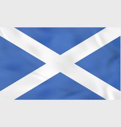 Scotland waving flag scotland national flag vector
