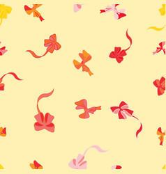 Seamless background with festive bows vector