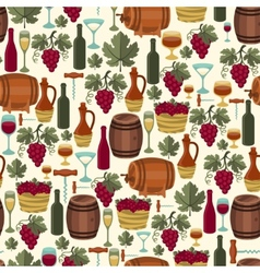 Seamless pattern for wine wineries and restaurants vector