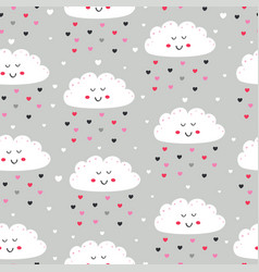 seamless pattern with love clouds vector image