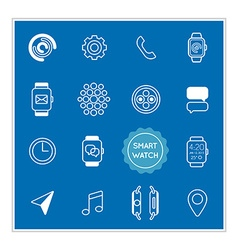 Set of smart watch elements can be used as logo or vector