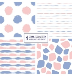 Set seamless pattern stripes polka dots vector