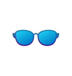 Sunglasses blue icon on white background vector