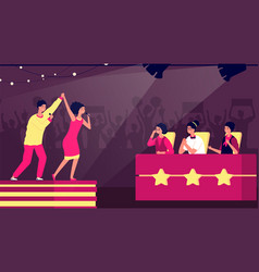 Talent show tv stage artist music contest vector