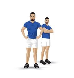 Training blue pair vector