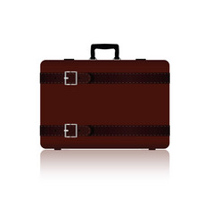 Travel bag with belts in brown color two variant vector