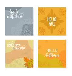 trendy abstract square template with autumn vector image