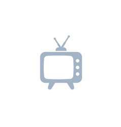 tv with antenna old television icon vector image