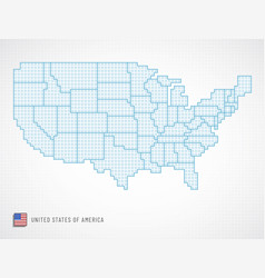 united states borders vector image