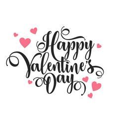 valentines day oblique lettering handwritten vector image