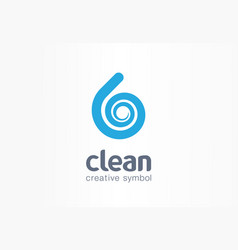 water drop aqua creative symbol concept clean vector image