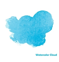 Watercolor Cloud for Your Design vector image