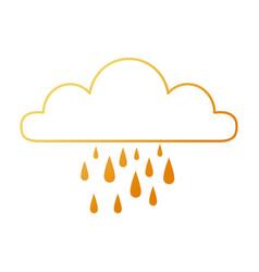 weather cloud rainy icon vector image