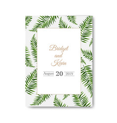 wedding invitation isolated white background vector image