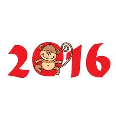 2016 Year of Monkey vector image
