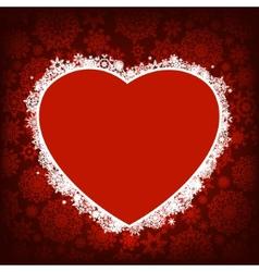 Christmas card - frame heart EPS 8 vector image vector image