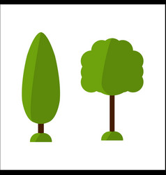 Fir flat tree icon spruce tree icon vector