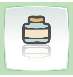 outline empty glass pot icon Modern infographic vector image vector image