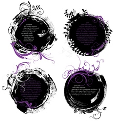Set of grunge rounded banners vector image