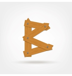 Wooden Boards Letter B vector image vector image