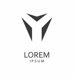 y letter logo icon vector image