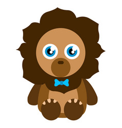 cute stuffed lion toy vector image vector image