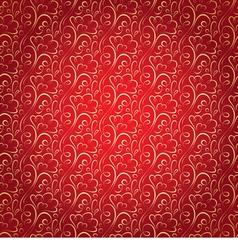gold floral pattern on claret celebratory vector image