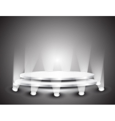 podium with light vector image vector image