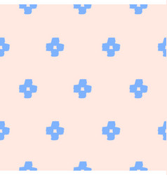 Seamless Cross Shapes Pattern vector image vector image