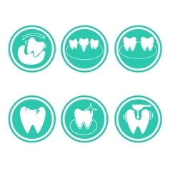 Set of dental conceptual icons vector image