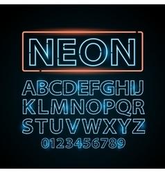 blue neon lamp letters font show vegas vector image