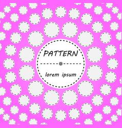 pink abstract circle minimal geometric pattern vector image vector image