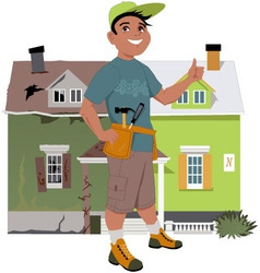 Renovate a house vector image