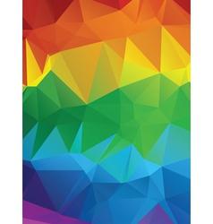 Rainbow Polygonal Background3 vector image