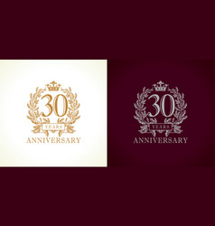 30 anniversary luxury logo vector image