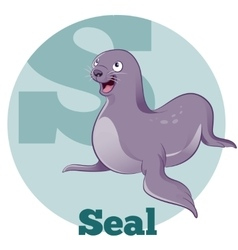 ABC Cartoon Seal vector image
