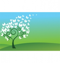 abstract decorative tree vector image
