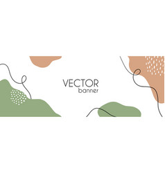 Abstract long banner template for facebook vector