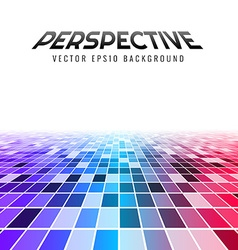 Abstract perspective tiles vector image vector image