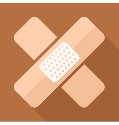 Adhesive plaster icon in flat style vector