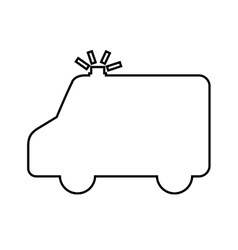 Ambulance silhouette isolated icon design vector