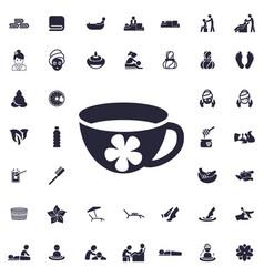 Aroma tea icon vector