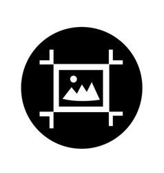 artboard tool icon design vector image
