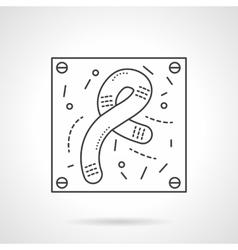Bacilli icon flat line design icon vector