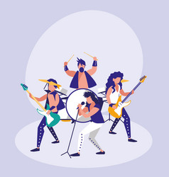 band of rock avatar character vector image