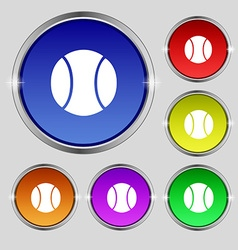 baseball icon sign Round symbol on bright vector image