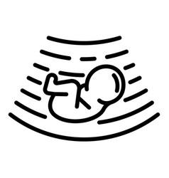 Baunder ultrasound icon outline style vector