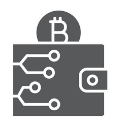bitcoin wallet glyph icon money and finance vector image