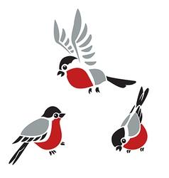 Bullfinches vector